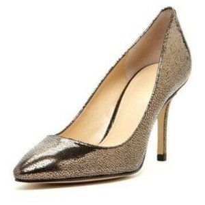 enzo angiolini Call Me Pump In Pewter Textured Lea